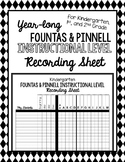 Year-Long Fountas & Pinnell Instructional Reading Level Re
