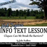 Yearbook Nonfiction Close Reading Lesson on Hot Topics wit
