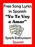 Yo Te Voy a Amar Song Lyrics en espanol / Just The Way You Are