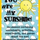 You Are My Sunshine! {Kindergarten Science CC Aligned}