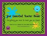 Your Essential Teacher Binder: Classroom Organization Kit