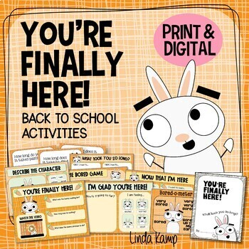 You're Finally Here First Day of School Activities, Printables, Bulletin Board