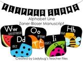 ZB Manuscript Alphabet Line (Flipped Signs)