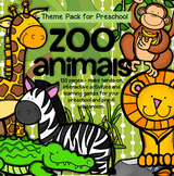 ZOO ANIMALS Prep Pack for Preschool - 179 pages