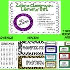 Zebra Classroom Library Set