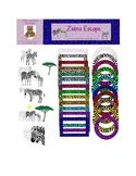 Zebra Escape Digital Graphics, Clip Art