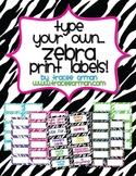 Zebra Labels You Can Customize & Edit