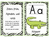 Zebra Print Alphabet Wall Cards with Matching Alphabet Cha