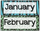 Zebra Print Calendar Months