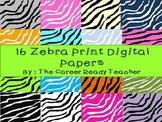 Digital Paper-Zebra Print
