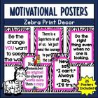 Zebra Print Inspirational Quotes Room Decor