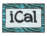 Zebra Print iPhone Classroom Labels
