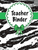 Zebra Teacher Binder