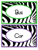 Zebra Transportation Labels