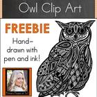 Black and White Owl Clip Art FREEBIE