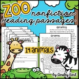 Zoo Animals - Non-Fiction, No Prep, Leveled Passages + gra