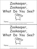 Zookeeper What Do You See Emergent Reader Kindergarten Preschool