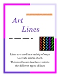 art - using lines in art class
