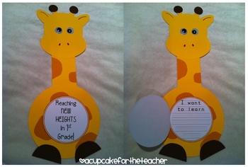 back to school giraffe ~ reaching new heights {a craftivity}