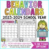 behavior calendars {non-editable with codes!} 2014-2015