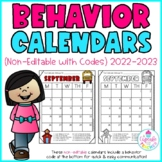 behavior calendars {non-editable with codes!} 2014-2015