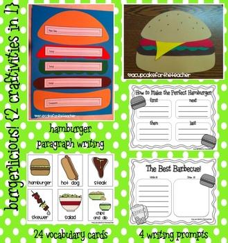 burgerlicious! {2 craftivities in 1}
