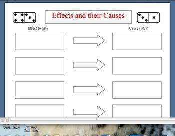 cause & effect graphic org