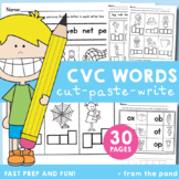 cvc Words - Cut, Paste & Write Worksheets