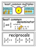 enVision Grade 5 Topics 9-11 Vocabulary Word Wall Cards