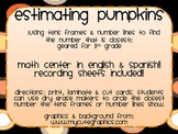 estimating pumpkins {using tens frames & number lines}