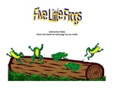 five little frogs telling time story