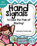 hand signal posters editable {dots and turquoise theme}