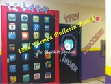 iPad themed door and iPod chart