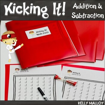 Math Facts Addition and Subtraction Fact Fluency Program *BUNDLE Kicking It Math
