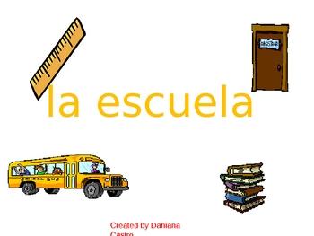 la escuela y los materiales escolares