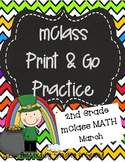 mClass Math PRINT AND GO Practice-2nd Grade-March