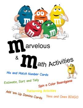 m&m Math Activities -- 6 great activities!