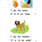 sight word book for the letter Mm kindergarten