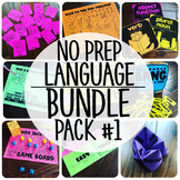 Language Therapy BUNDLE PACK {No Prep Practice}