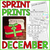 Sprint Prints! December {Printables & Craftivity}
