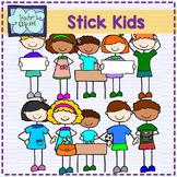 Stick kids Clip Art BUNDLE