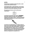 sub plan #4 Louis Pasteur  (in Eng) for French/culture - 8 PAGES