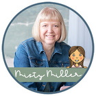 Misty Miller: illustration of a student and a photo of a teacher